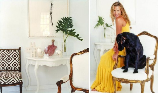 Domino Magazine's tour of India Hicks' home