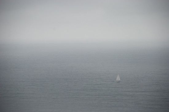 sailboat in Pacific ocean
