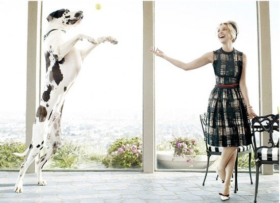 Katherine Heigl and her great dane