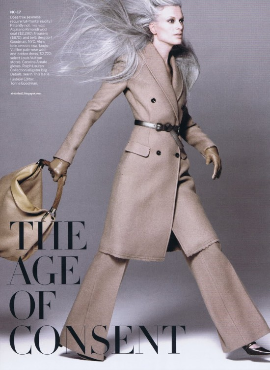 Kristen McMenamy in Vogue's August issue