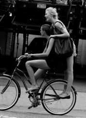 Girls on Bicycle by the Sartorialist