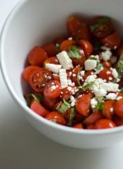 improvised tomato basil salad