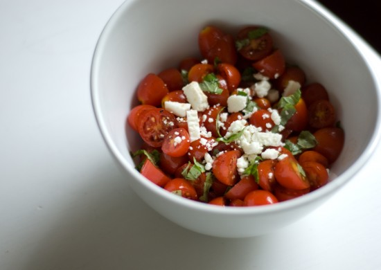 improvised tomato basil salad