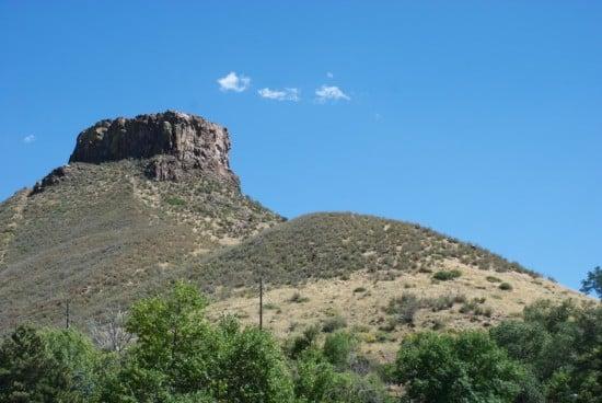 Golden Colorado mountains