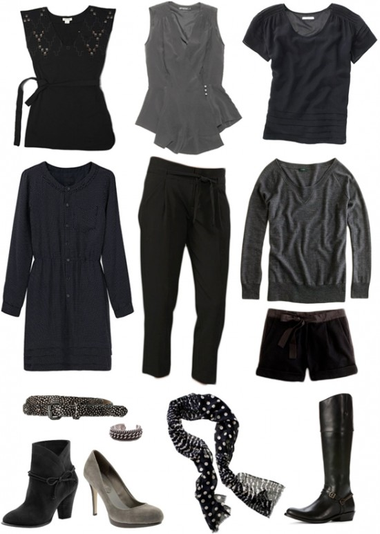 fall clothing and accessory collage