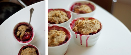 photos of berry cobbler