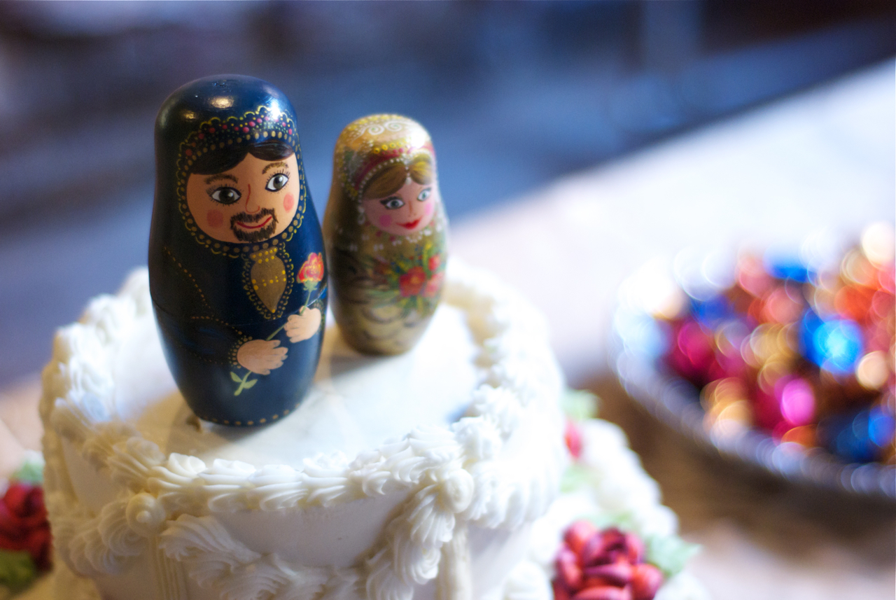 Russian Dolls As Wedding Cake Toppers
