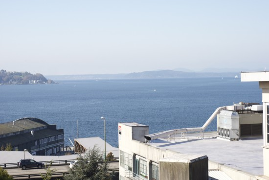 View of the Puget Sound from Pike Place Market.