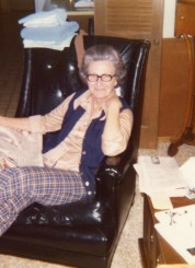 my grandmother lounging at home in the 1970s