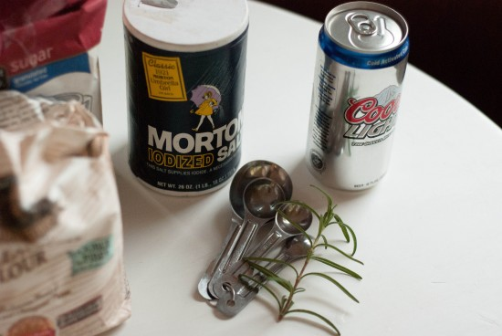 ingredients to make beer bread