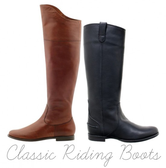 Cole Haan Oleanna Boot in brown compared to Madewell Archive Boot in black