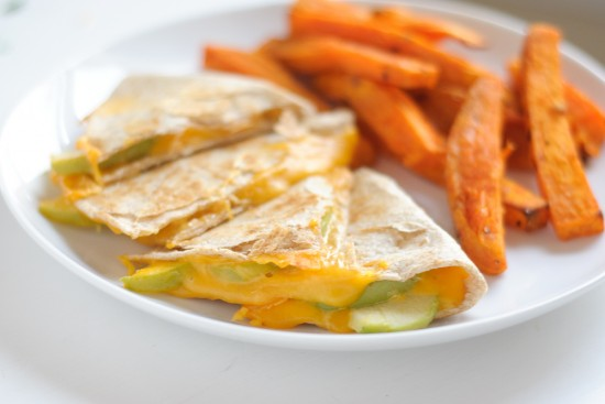 Apple cheddar quesadilla by Cookie and Kate