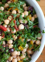 chickpea salad close-up