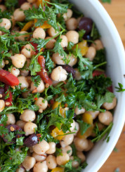 chickpea salad close-up
