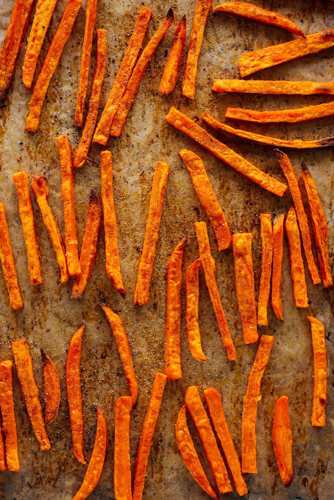 seasoned crispy baked sweet potato fries