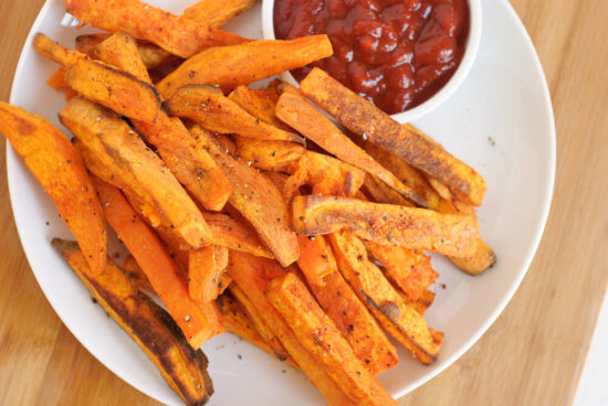 baked sweet potato french fries, yum!