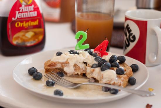 24th birthday waffle