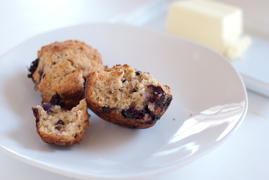 baked blueberry muffin