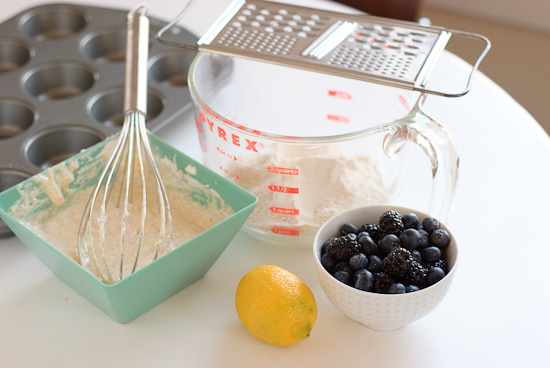 blueberry muffin ingredients