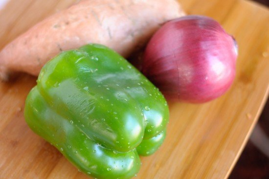 Vegetables for sweet potato chili