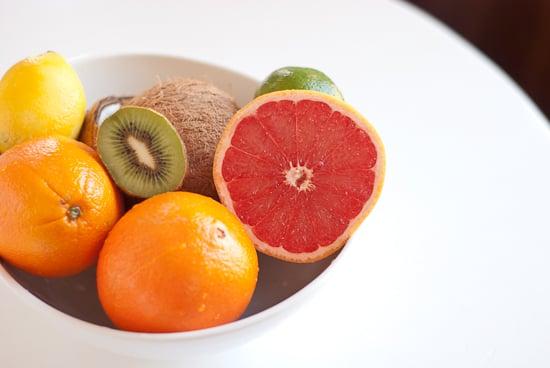centerpiece featuring winter fruits