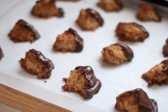 homemade chocolate covered macaroons