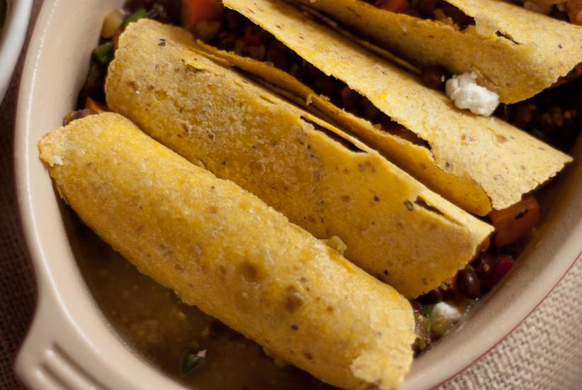Vegetarian Black Bean Sweet Potato Enchiladas Recipes — Dishmaps