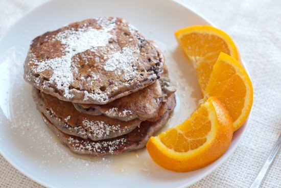 blackberry orange pancakes