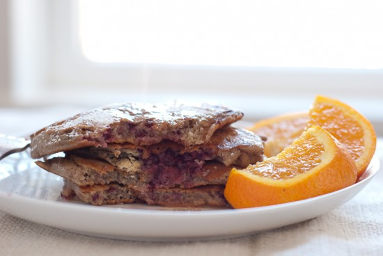 whole wheat blackberry orange pancake recipe