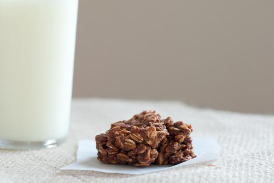 healthy no bake cookie with milk