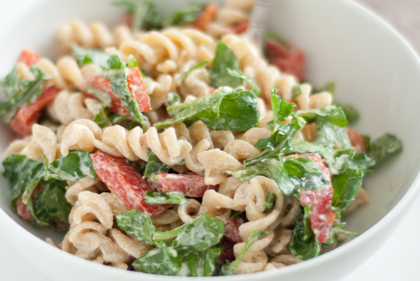 Pasta Salad With Goat Cheese And Arugula