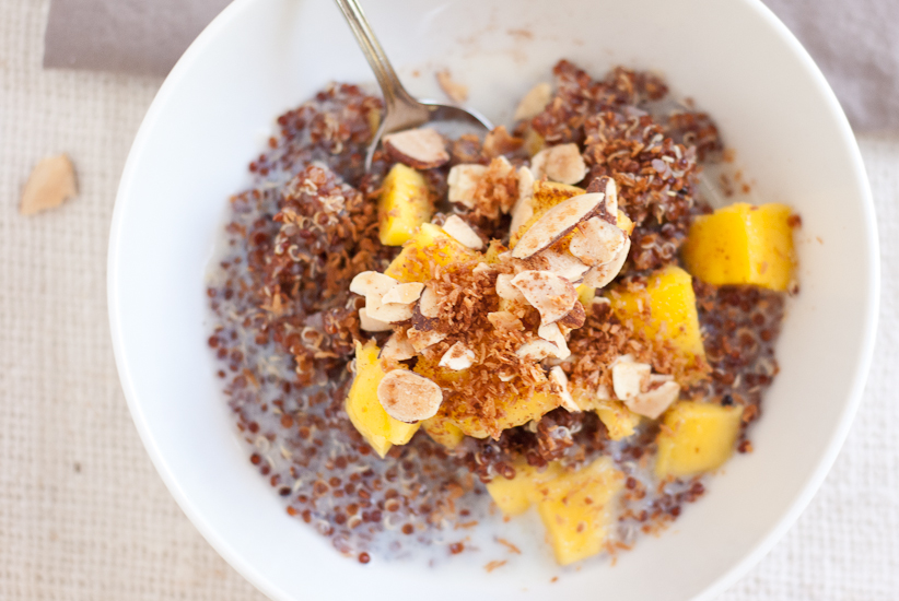 Breakfast quinoa recipe mango breakfast quinoa 11g ccuart Choice Image