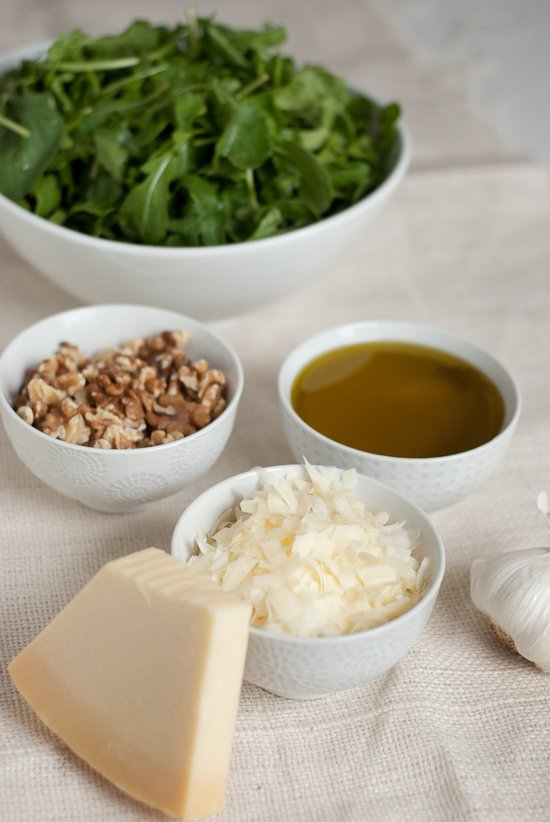 Arugula Walnut Pesto Ingredients