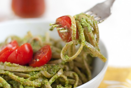 pesto close-up
