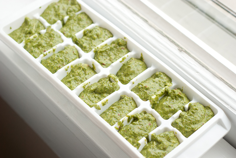 pesto ice cube tray