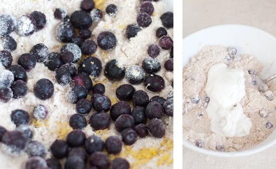 blueberry lemon and yogurt scone recipe