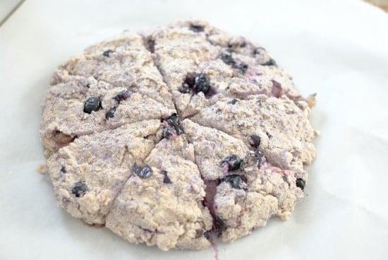 how to make lemon blueberry scones