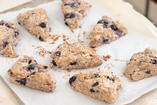 baked lemon blueberry scones