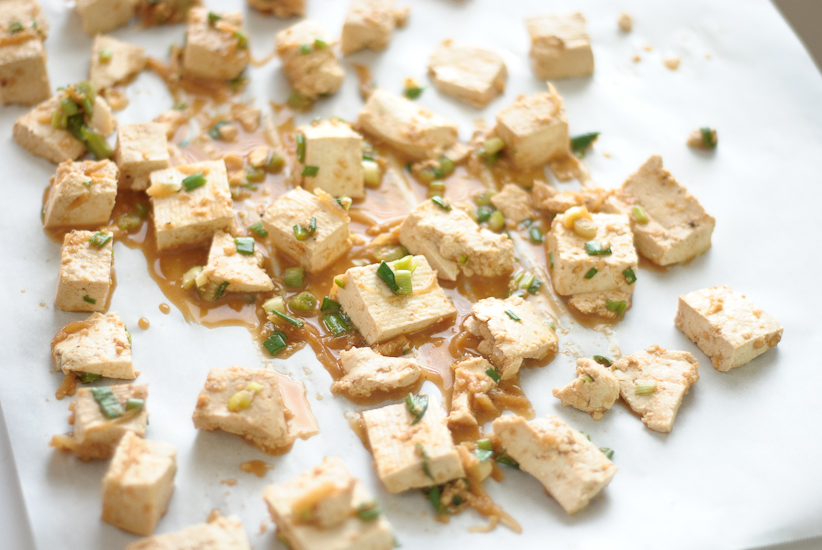 Roasted Tofu With Ginger Garlic Marinade Recipe — Dishmaps