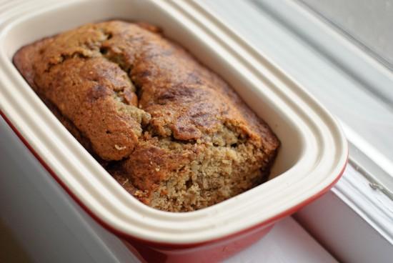 healthy whole wheat banana bread loaf