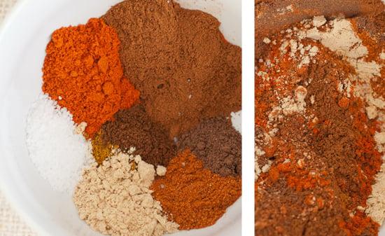 curry powder, ginger, cayenne pepper, cloves, allspice and salt