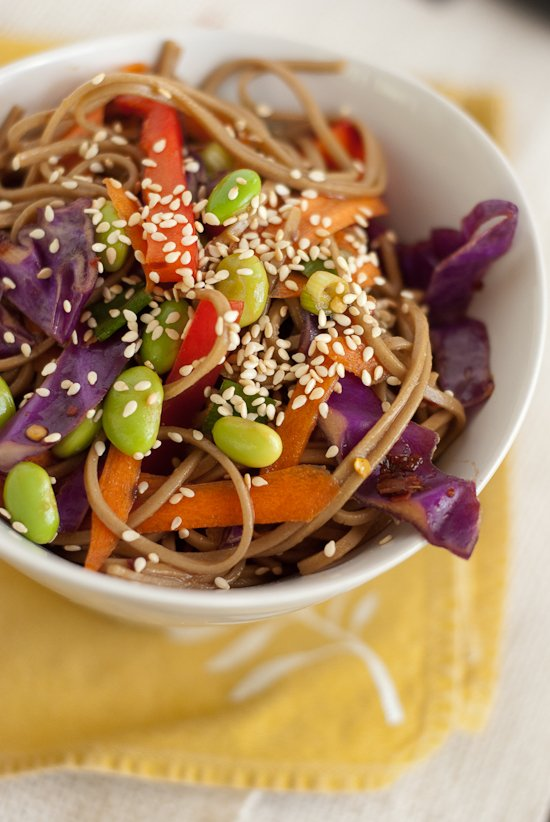 This soba noodle salad is perfect for potlucks! (vegan) - cookieandkate.com