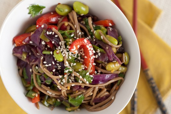 easy vegetarian soba noodles recipe
