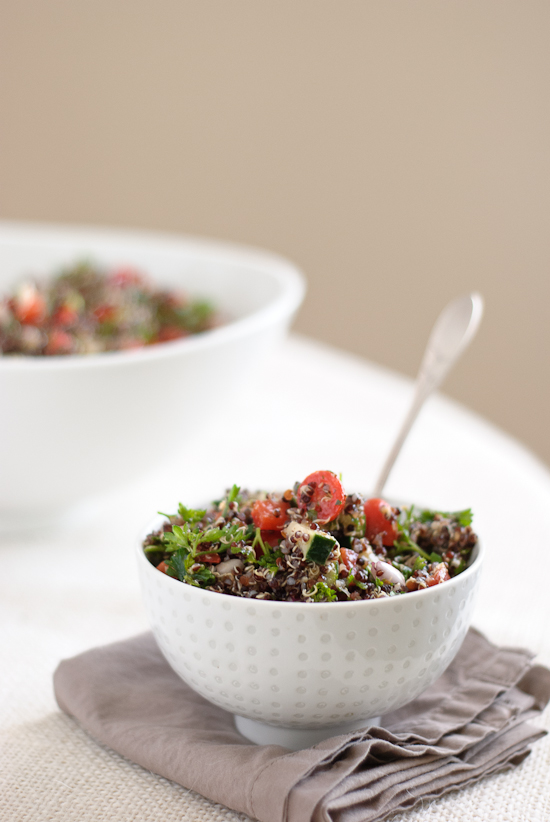 healthy tabbouleh made with quinoa
