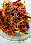Colorful Veggie Sesame Noodles
