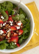 Strawberry Spinach Salad with Sweet and Spicy Walnuts