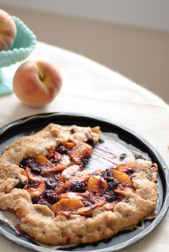 delicious blackberry peach galette