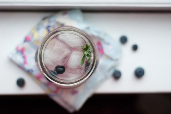 blueberry lavender lemonade with vodka