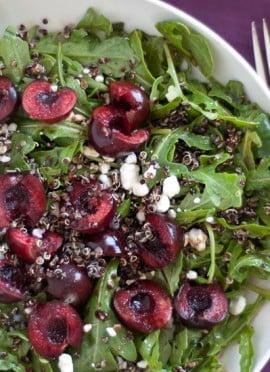 Cherry, Arugula and Quinoa Salad