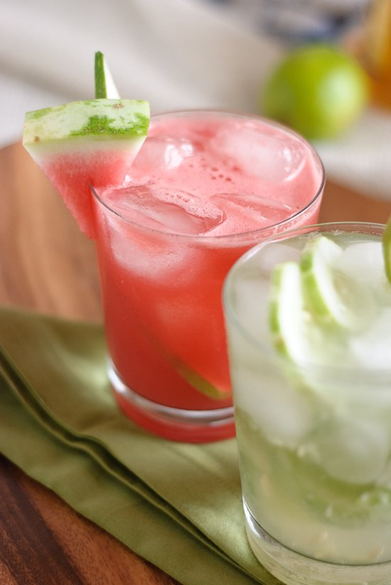 watermelon cucumber cocktail